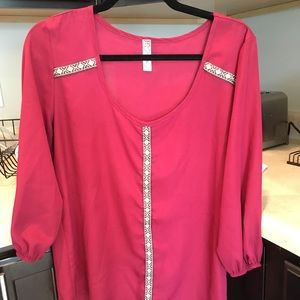 Bella D. Blouse With Beaded Detail